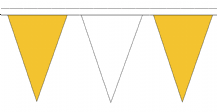 Orange and White Traditional 20m 54 Flag Polyester Triangle Flag Bunting